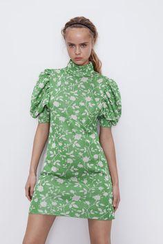 Casual Summer Dresses, Short Dresses, Jacquard Dress, Zara Dresses, Zara Women, High Collar, Mannequin, A Line Skirts, Designer Dresses