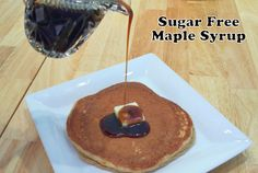 Low Carb, Sugar Free and Gluten free recipes for all 0 net carb sugar free maple syrup-- homemade! Make with your choice of sweetener. Way better than store bought sugar free maple syrups! Ketogenic Diet, Ketogenic Recipes, Gluten Free Recipes, Low Carb Recipes, Healthy Recipes, Maple Syrup Recipes, Sugar Free Maple Syrup, Low Carb Sweets, Low Carb Desserts