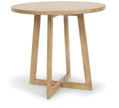 """Ryan Side Table   Dimensions 26""""H x 28"""" Dia.   Custom Sizing Available   45 Unique Hand-Applied Finishes   Made in USA"""