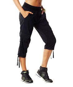 Look at this Back to Black Cargo Capri Pants - Women on #zulily today!