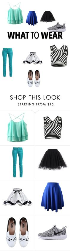 """""""what"""" by chenaizalove ❤ liked on Polyvore featuring Litecraft and Karl Lagerfeld"""