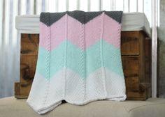 New to RycesPiecesKnits on Etsy: SALE Sherbet Chevron Knit Baby Blanket/ Stroller Blanket/ Chevron Blanket/ Knit Blanket/ Baby Blanket/ Baby Girl Blanket/ Photo Prop Blanke (25.40 USD)
