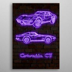 """Beautiful """"Corvette metal poster created by PrintstaBee Arts. Our Displate metal prints will make your walls awesome. Artwork Prints, Cool Artwork, Poster Prints, Corvette C3, Poster Making, Print Artist, Art Boards, Tapestry, Neon Signs"""