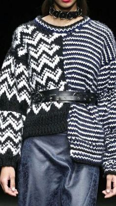 Knitwear Fashion, Knit Fashion, Chunky Knitwear, Contemporary Dresses, Knitting Designs, Refashion, Diy Clothes, Lana, Knit Crochet