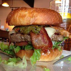 Green chile Burger lol