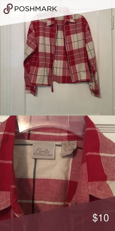 Checkered zip jacket! Great condition & 100% cotton! fiorlini international Jackets & Coats Blazers