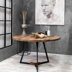 Unique Coffee Tables Styling Ideas For Your Living Room, Wood - Dining Room Design, Table Style, Round Coffee Table, Table, Living Room Wood, Industrial Dining Table, Table Design, Coffee Table, Coffee Table Styling