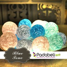 Jual Cotton Ball Light Beli Online Harga Murah Cotton Ball Light Blue Tone CBL4 Lampu hias unik cocok untuk dekorasi ruangan. paket penjualan : 2,5 metre Cable Lenght 1 string light( 20 bulb ) 15 watt electricity on plug 20 cotton ball (size 5,5 cm) made from polyester thread only for indoor use. Packingbox 29x6x23 with Duplex 400g Paper Rp120.000,- info 082111252928 (whatsup/sms) line : padabeli www.padabeli.com Cotton Ball Lights, Blue Tones, String Lights, Easter Eggs, Light Blue, Bulb, Indoor, Interieur, Onion