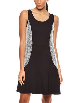 On ideel: KENSIE Tank Dress with Placement Lace Panels