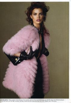 pink fur, from vogue.