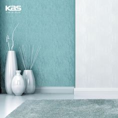 Our patterned rugs are lovely, but there is beauty in simplicity as well. The Fina Silver Sage Silky Shag rug is a prime example. http://www.kasrugs.com/product/details/FIA055327X45 | #ColorWithKAS #Style #InteriorDesign #Foyer #HomeDecor #FloorCovering #Rugs #Rug