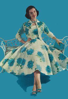 1950's dream dress w/ matching jacket!