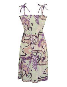 b6ebf7a8db Check out the deal on Smock Dress Aloha Carnival Midi Length at Shaka Time  Hawaii Clothing
