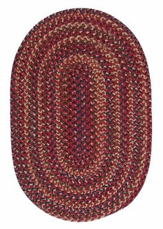 Midnight MN87 Burnt Brick Braided Wool Rug by Colonial Mills