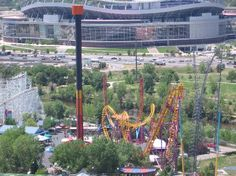 Elitch Gardens Theme Park: Tower of Doom and Boomerang Coaster