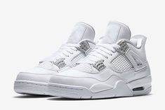 adc583caf1ff69 Nike Air Jordan 4 Retro Pure Money Size 7-12.5 White Metallic Silver 308497-