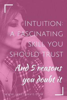 Should you trust your intuition?  Yes!!  Here's why, and 5 reasons you doubt yourself when you sense something's wrong