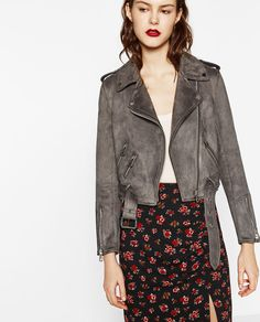SUEDE EFFECT JACKET-Faux-LEATHER-WOMAN | ZARA United States