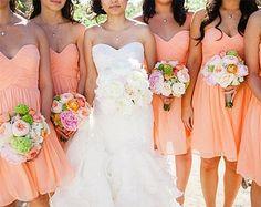 bridesmaid dresses ombre peach - Google Search