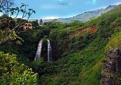 """'Opeaka'a Falls, Kauai."" (From: 30 Beautiful Photos of the Hawaiian Islands)"