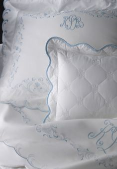 Léron Linens | Custom Bespoke Embroidered Bed Linens | Summer