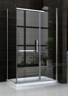 Douchewand New York, uitgevoerd met klapdeur. Verkrijgbaar in de afmeting 1200 x 800mm. Het glas is 8mm dik.