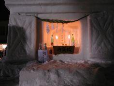 Asian Altar made of Snow. (Snow Dog Festival) - tribe.net