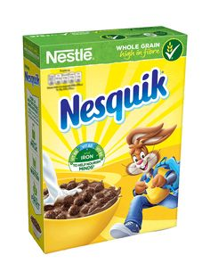 Nesquik cereal is a source of iron and vitamins and Nesquik turns the milk chocolatey to give it that irresistible chocolate taste! Lava Cake Recipes, Lava Cakes, Snack Recipes, Nesquik, Snickers Ice Cream, Nestle Chocolate, Summer Snacks, Weird Food, Breakfast Cereal