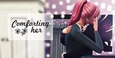 mememuru CC — Comforting Her Sims 4 Photography, Hug Pose, Sims 4 Stories, Sims 4 Traits, Meant To Be Yours, Sims 1, Sims 4 Cc Finds, Sims 4 Clothing, The Sims4