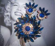 Juliana Medallion Design Brooch and Earrings Demi Parure