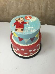 Daniel the Tiger 2nd birthday cake
