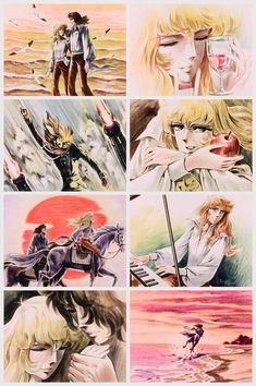 Lady Oscar/Rose of Versailles' Ep. ending music: [link] [link] Adieu, my beloved Oscar. Old Anime, Anime Manga, Oscar Cartoon, Oscar Films, Lady Oscar, Otaku, Anime Stars, Anime Nerd, D Gray Man
