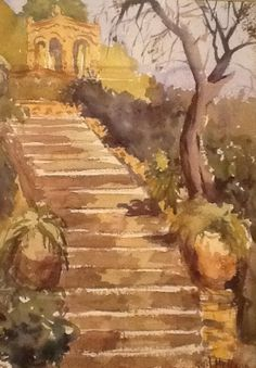 Old Stairwell by ArtWithGail on Etsy, $165.00