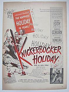1944 Knickerbocker Holiday With Eddy, Coburn & Dowling