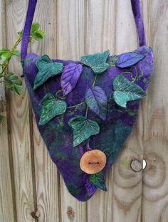 Bluebell Woodlands bag  Spring time Woodland Bag Felted by folkowl