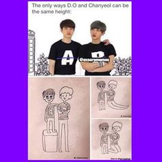 Chanyeol now has rubber legs....