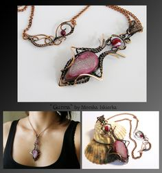 Gunna- wire wrapped copper necklace by mea00 on DeviantArt