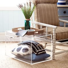 lucite acrylic trunk coffee table - Buying a whole set of family room furniture could be easier whil. Acrylic Decor, Furniture, Soft Sofa, Loft Furniture, Furniture Deals, Buy Furniture Online, Home Bar Furniture, Cool Furniture, Acrylic Furniture