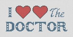 Doctor Who I Love the Doctor Cross Stitch Pattern PDF by ThatsSewEllie