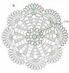 The scheme of knitting Christmas potholders - crochet snowflakes Free Crochet Doily Patterns, Crochet Coaster Pattern, Crochet Placemats, Crochet Motifs, Crochet Mandala, Crochet Diagram, Crochet Chart, Thread Crochet, Crochet Flowers