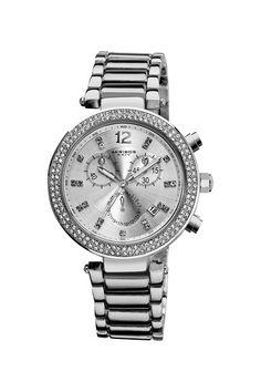 Akribos XXIV Women's Crystal Chronograph Bracelet Watch  on @HauteLook