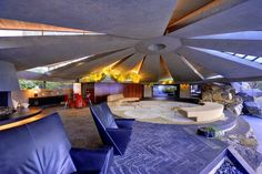 Elrod House, 2175 Southridge Drive > Interior designer Arthur Elrod told John Lautner to design him the home he deserved. The result was a flying-saucer fit for a Bond villain: In Diamonds are Forever, Sean Connery is beaten up here by Bambi and Thumper.