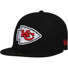1194175838b Kansas City Chiefs New Era Omaha Fitted Hat - Black. NFL Caps   Hats