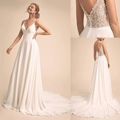 47 neueste Brautkleider Ideen zu inspirieren - Mode Schmuck Trends 47 latest wedding dress ideas to inspire # Bridal dresses inspire Wedding Dress Necklines, V Neck Wedding Dress, Wedding Dress Trends, White Wedding Dresses, Bridal Dresses, Wedding Gowns, Wedding White, Elegant Dresses, Tulle Wedding