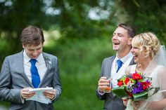 Another happy day. We photographed this wedding in Geldeston Lock in Norfolk. The best man did a cracking speech and we captured the bride and groom in mid laugher.  Documentary wedding photography at its best :)