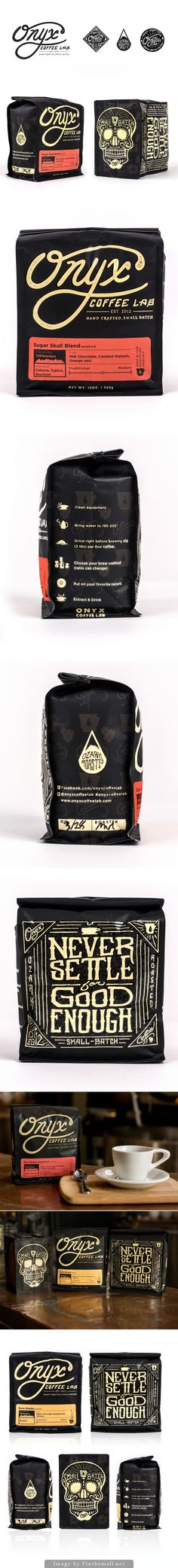 Here's an expanded Onyx coffee pin #identity #packaging #branding PD