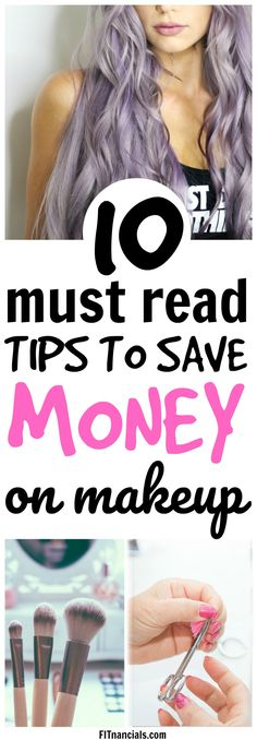 Must-read list of ways to save money on makeup. #savemoney #makeup