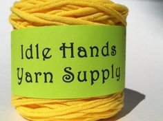 Yellow Tarn Recycled T Shirt Yarn  6425 by IdleHandsYarnSupply, $6.43