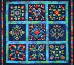 Midnight Roses Rose of Sharon quilt.