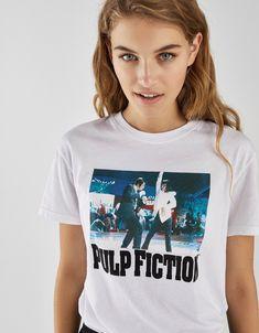 2b5445e607 Pulp Fiction T-shirt - Bershka  fashion  product  printed  print